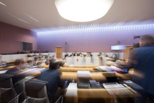 Nicht im Landtagssaal, sondern in der Ausschusssitzung wird heute, Mittwoch, ein Marathontag erwartet. Acht Ausschüsse stehen auf dem Programm. VN/StEurer