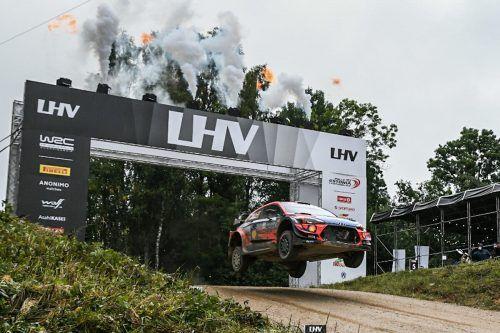 Ott Tänal flog beim Neustart der Rallye-WM zum Sieg in seiner Heimat.apa