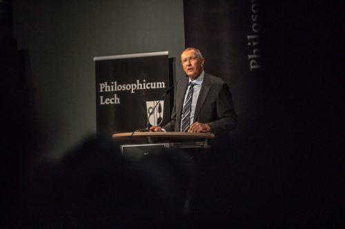 Philosophicum-Leiter Konrad Paul Liessmann in Lech. VN/Steurer