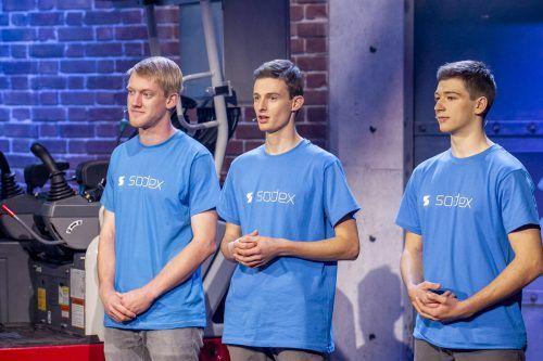 Das Gründerteam von Sodex (hier bei der Puls4-Mentoren-Show). g.frank
