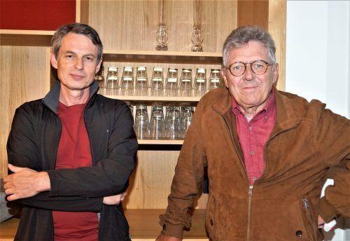 Schriftsteller Wolfgang Mörth und Hans Paul Hammling (Autorenverband).