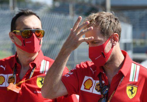 Sebastian Vettel musste auch im Training für den Heim-Grand-Prix in Monza eine Schlappe einstecken. ???