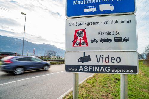 Seit 15. Dezember heißt es: freie Fahrt bis Hohenems. VN/Stiplovsek