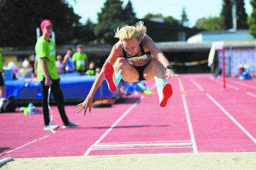 Simone Bereiter-Winsauer gewann in der W-45-Klasse insgesamt vier Medaillen, darunter Gold im 100-m- und 200-m-Lauf sowie im Weitsprung.ÖLV