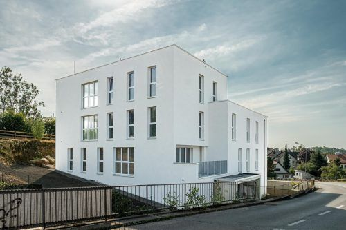 So wird laut Computermodell die neue Wohnanlage am Funkenbühel in Bregenz nach der Fertigstellung einmal aussehen.Hefel Wohnbau