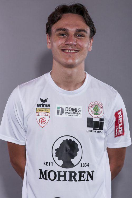 Soll als Joker Akzente setzen: FC-Dornbirn-Stürmer Lukas Fridrikas. Gepa