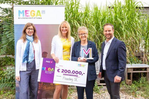 Sonja Zimmermann (MEGA-Vorstand), Ulrike Lichtinger, Marlis Schedler, Matthias Strolz (MEGA-Beirat).