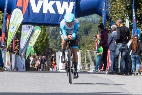 Tri Dornbirn gibt alles beim Rennen in Nenzing.Triathlonverband