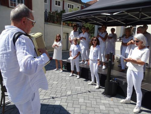 Ulrich Gabriel und sein Kontaktchor möchten ihrem Konzept treu bleiben und lieber im Frühjahr die geplanten Auftritte nachholen.Kontaktchor