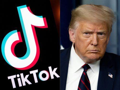US-Präsident Trump begründet das drohende TikTok-Aus mit Sicherheitsbedenken. AFP