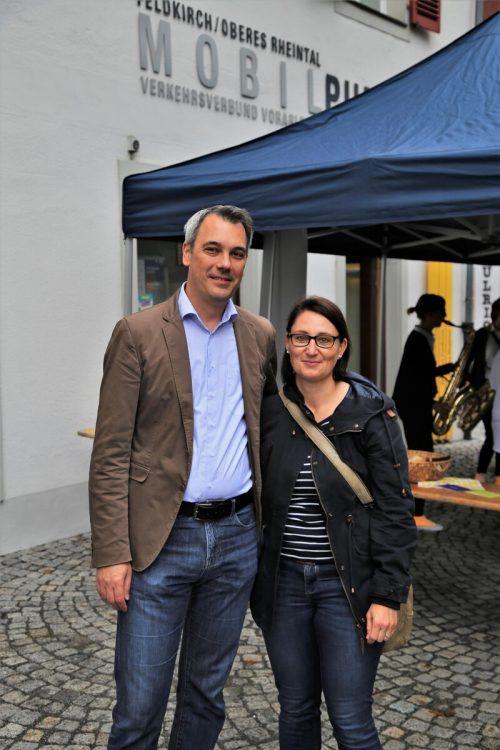 VMobil-Geschäftsführer Christian Hillbrand mit Gattin Alexandra.