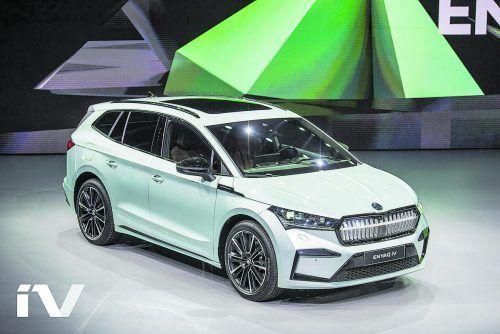 Vollelektrischer Antrieb: Škoda Enyaq iV feierte diese Woche Weltpremiere.werk