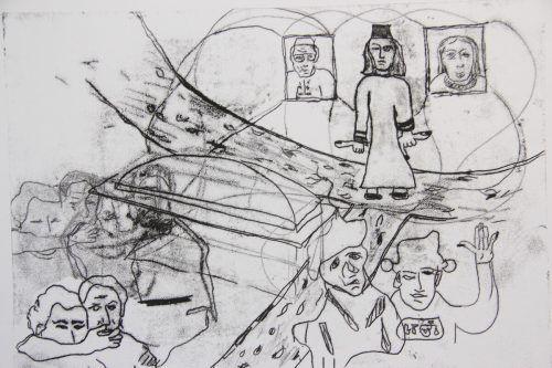 Zeichnung von Harald Gmeiner.
