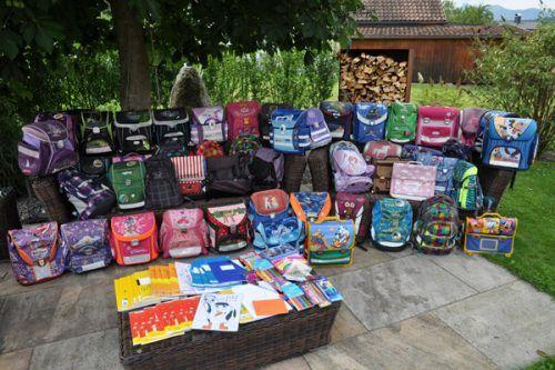 """Zum Ende des Schuljahres wurde in der Volksschule Frastanz-Hofen die Sammelaktion """"Wissen macht stark"""" durchgeführt. Mit Erfolg, wie man sieht.Karin Meusburger"""