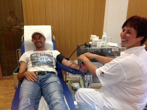 119 Blutspender kamen in die Kehlegger Turnhalle.Blutspendedienst