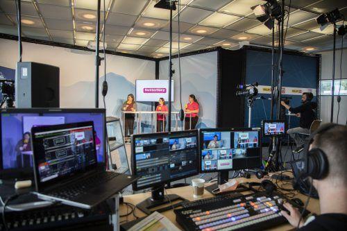 17 Unternehmen stellten bei der digitalen Lehrlingsmesse Nextsteplehre am Berg 70 Lehrberufe und ihre Lehrstellenangebot vor. Das Interesse war groß. VN/Paulitsch