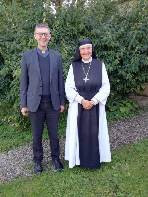 Äbtissin Hildegard Brem und P. Thomas Felder bilden das neue Leitungsteam. P. Christian Stranz