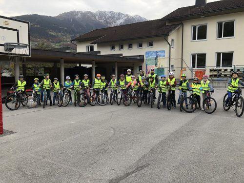 Alle Kinder schafften die praktische Radfahrprüfung auf Anhieb.str