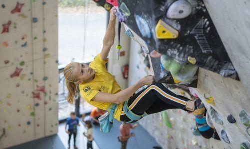 Ariane Franken kletterte bei der Jugend-EM in Russland im Vorstieg und Bouldern ins Finale.KVV