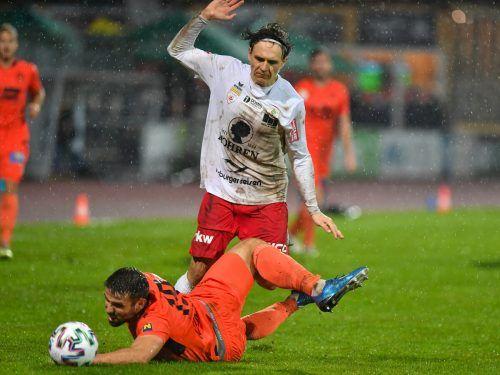 Auch FCD-Goalgetter Lukas Fridrikas vermochte sich nicht entscheidend durchzusetzen. So blieb es beim 0:0 gegen den SV Horn.gepa