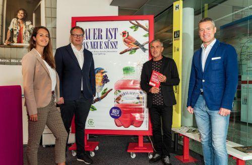 Barbara Luger, Markus Raith, Fred Kendlbacher und Dominik Sobota (Progress). vn