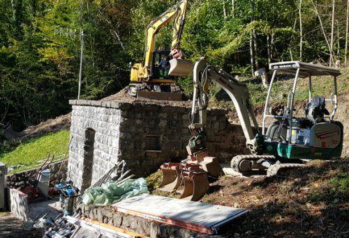 Beim Hochbehälter Halde finden aktuell Sanierungsarbeiten statt. Stadt Bludenz