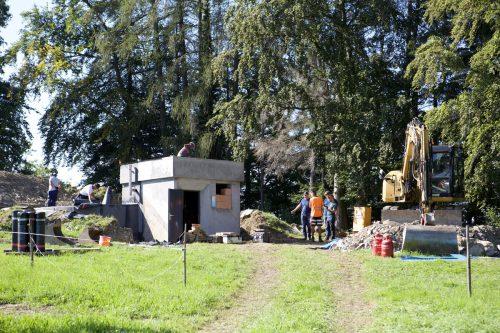 Im vergangenen Jahr wurde u.a. der Hochbehälter Burgfeld auf Vordermann gebracht. Bis Ende April läuft nun die nächste Sanierungsetappe. Gemeinde/Fritz
