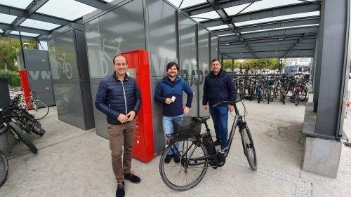 Die Fahrradboxen wurden kürzlich in Hohenems vorgestellt.Stadt