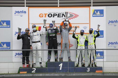 Christian Klien und sein Teamkollege Patryk Krupinksi schafften es in Spa auf Platz drei und holten sich die Gesamtführung bei der Pro-Am-Wertung der GT Open.JP