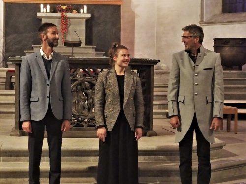 Christian Lebar, Barbara Salomon und Rudolf Berchtel (v. l.) spielten auf höchstem Niveau der Orgelkunst.