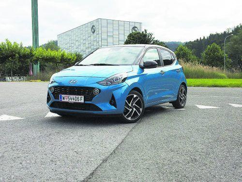 Damit punktet der Hyundai i10: Ordentliche Platzverhältnisse, schicke Optik und alles drin in Sachen Konnektivität und Sichereit.VN/Gasser