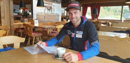 Daniel Zugg traf sich mit der VN-Heimat zum Interview auf dem Schrunser Hochjoch – dort genießt er die Ruhe vor dem Weltcup-Sturm.est