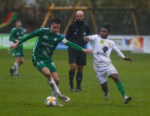 Das 1:3 gegen die Austria Amateure war die zweite Niederlage am Wochenende für Julian Birgfellner (l.) und den DSV.Paulitsch