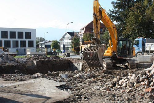 Das Gasthaus Fulterer in Rankweil war einmal. 2022 wird auf dem Areal eine Wohnanlage entstehen. VN/TK