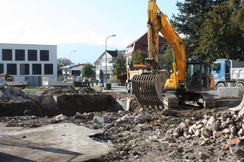 Das Gasthaus Fulterer war einmal. 2022 startet die Alpenländische mit den Bauarbeiten für eine neue Wohnanlage.VN/Knobel