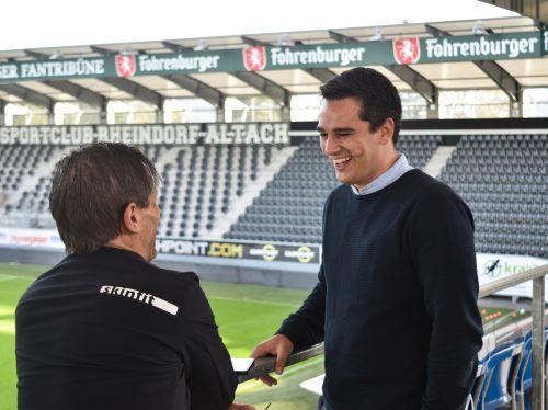 Das Heimweh ins Stadion, so verriet Johannes Schmied (r.), werde noch kommen.SCRA