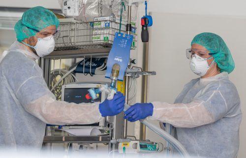 Das Personal im Landeskrankenhaus Hohenems war speziell im Frühjahr intensivmedizinisch enorm gefordert.khbg