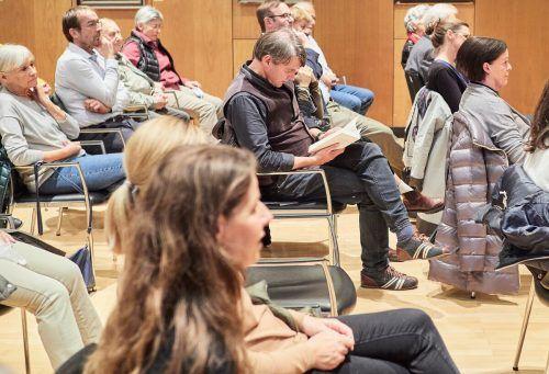 Das Publikum interessierte sich für die Geschichte des von den Nazis hingerichteten Lustenauers Hugo Paterno.Gemeinde