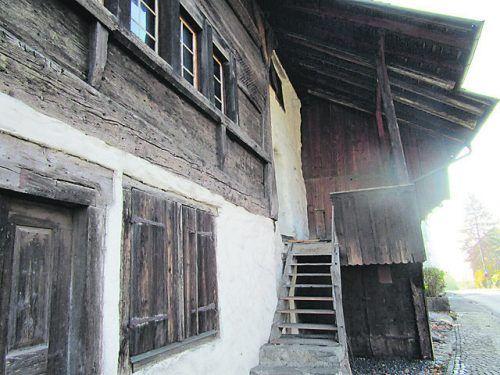 Das Schlossguggerhaus steht noch heute.Foto: VN
