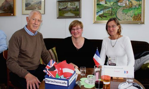 Das Sprachencafé in Lochau unter der Leitung von Peter Pongratz.bms
