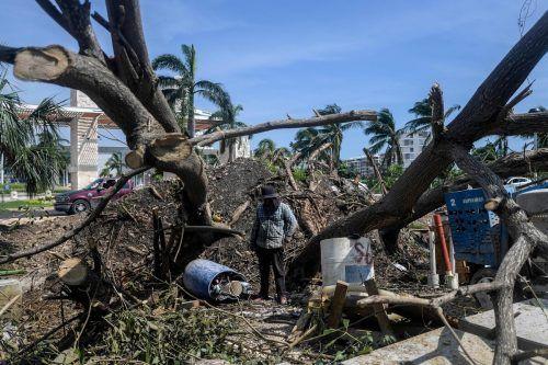 """""""Delta"""" hat schon an der mexikanischen Karibikküste für Schäden gesorgt. AFP"""