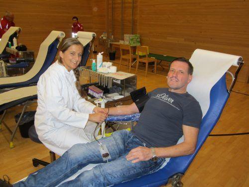 Der Blutspendedienst bittet wieder um rege Teilnahme.Blutspendedienst