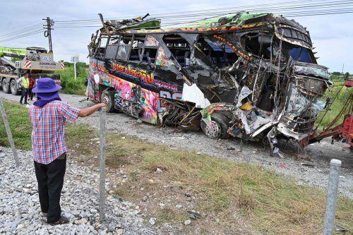 Der Bus war zu einer buddhistischen Zeremonie unterwegs. AFP