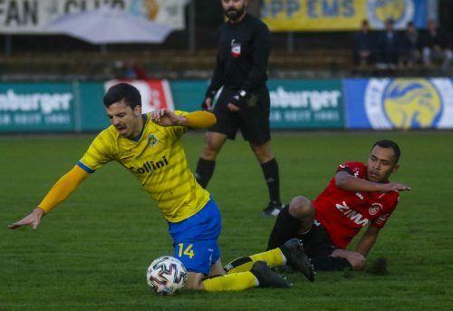 Der FC Rotenberg lieferte dem Tabellenführer VfB Hohenems schon im Hinspiel einen Fight, das will die Nussbaumer-Truppe heute wiederholen.paulitsch