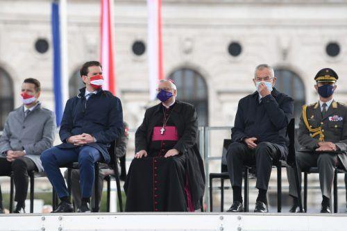 Der Feiertagsfestakt mit Kanzler Kurz und Präsident Van der Bellen ging heuer abgespeckt über die Bühne. APA