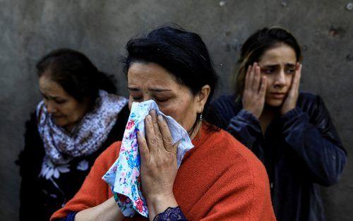 Der Krieg in der Region Karabach zwischen Armenien und Aserbaidschan lässt die Bewohner verzweifeln, wie hier in der Stadt Ganja. Reuters