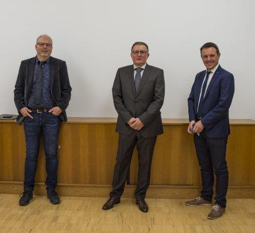 Der neue Lorünser Gemeindevorstand mit Vizebürgermeister Otto Schuh, Bürgermeister Andreas Batlogg sowie Christian Loretz (v.l.).Gemeinde