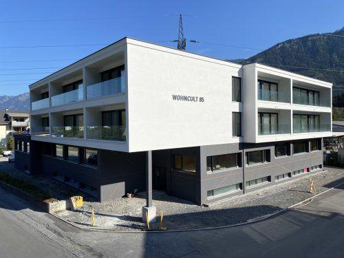Der Wohncult 85 in der Bludenzer Klarenbrunnstraße befindet sich in der finalen Bauphase. Rund 750 Quadratmeter Gewerbefläche stehen noch zur Verfügung.BI