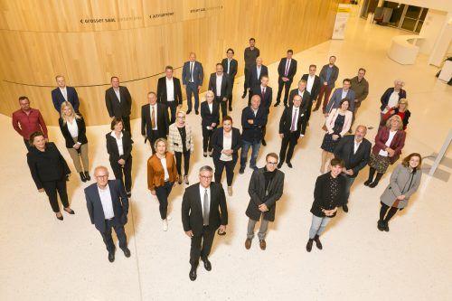 Die 36 Mandatare der neu gewählten Feldkircher Stadtvertretung. Mathis