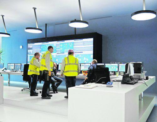 Die BERTSCHenergy Kesselwarte, das Kontrollzentrum zur Überwachung des Kraftwerks.